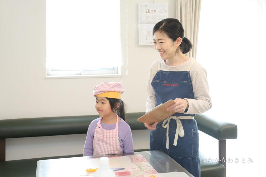 料理教室開始前の親子